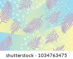 vector geometrical exotic...   Shutterstock .eps vector #1034763475