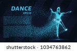 dance of the particles. girl... | Shutterstock .eps vector #1034763862
