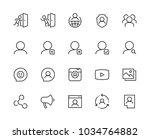 social media and network vector ... | Shutterstock .eps vector #1034764882