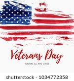 usa  veterans day background.... | Shutterstock .eps vector #1034772358