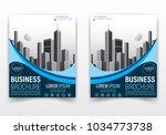 modern brochure or flyer poster ...   Shutterstock .eps vector #1034773738
