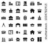 flat vector icon set  ... | Shutterstock .eps vector #1034782915
