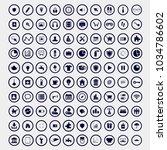 100 vector illustration icons...
