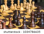 set of chess figures on the... | Shutterstock . vector #1034786635