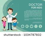 doctor and children healthcare... | Shutterstock .eps vector #1034787832