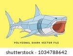 polygonal shark t shirt  ... | Shutterstock .eps vector #1034788642