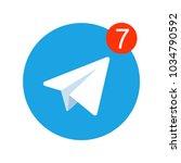 aircraft blue vector logo  ... | Shutterstock .eps vector #1034790592