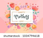 card for happy mother's day in... | Shutterstock .eps vector #1034794618