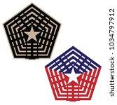pentagon vector illustration in ...   Shutterstock .eps vector #1034797912