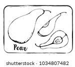 black and white fruit sketch... | Shutterstock .eps vector #1034807482