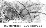 mosaic abstract background with ... | Shutterstock . vector #1034809138