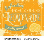 lemonade poster in vintage... | Shutterstock .eps vector #103481042