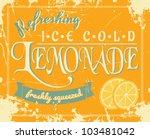 lemonade poster in vintage... | Shutterstock .eps vector #103481042