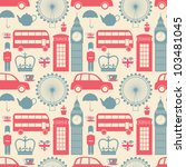 Stock vector seamless pattern with london symbols 103481045