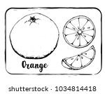 black and white fruit sketch... | Shutterstock .eps vector #1034814418