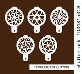 set of coffee stencils. for... | Shutterstock .eps vector #1034815318