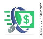 icon logo for business finance  ... | Shutterstock .eps vector #1034816362