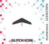 hang glider  glitch effect... | Shutterstock .eps vector #1034819896