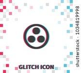 proton or neutron  glitch...   Shutterstock .eps vector #1034819998