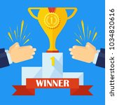 applause for winner of... | Shutterstock .eps vector #1034820616