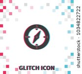 compass  glitch effect vector...
