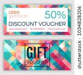 gift voucher template. vector...   Shutterstock .eps vector #1034828206