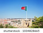castle in lisbon portugal | Shutterstock . vector #1034828665