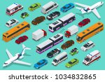isometric city transport with... | Shutterstock .eps vector #1034832865