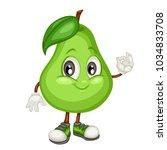 cartoon illustration of a pear. ... | Shutterstock .eps vector #1034833708