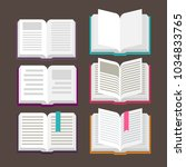 open book vector icons | Shutterstock .eps vector #1034833765