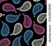 seamless pattern of beautiful... | Shutterstock .eps vector #1034853985