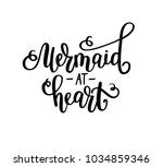 mermaid at heart vectotr... | Shutterstock .eps vector #1034859346