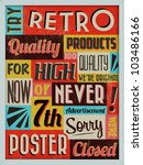 retro vintage background with... | Shutterstock .eps vector #103486166