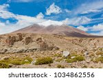 andes region  bolivia with snow ...   Shutterstock . vector #1034862556
