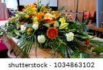 closeup shot of a colorful... | Shutterstock . vector #1034863102