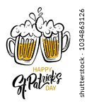 happy st. patrick's day poster. ... | Shutterstock .eps vector #1034863126