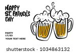 happy st. patrick's day banner. ... | Shutterstock .eps vector #1034863132