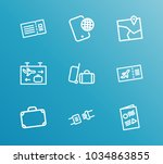 airport icon set and phone... | Shutterstock .eps vector #1034863855
