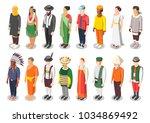 multinational world culture... | Shutterstock .eps vector #1034869492