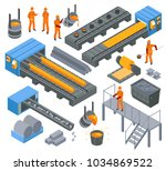 steel iron aluminium... | Shutterstock .eps vector #1034869522