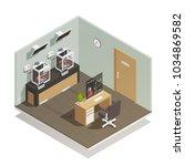 scientific medical computer... | Shutterstock .eps vector #1034869582