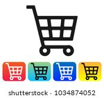 shopping cart icon vector  cart ... | Shutterstock .eps vector #1034874052