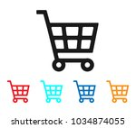 shopping cart icon vector. cart ... | Shutterstock .eps vector #1034874055