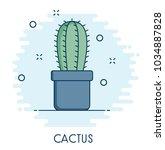 cactus flat icon   Shutterstock .eps vector #1034887828