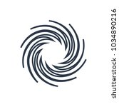 swirl icon. isolated whirl and...