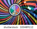 close up of a flag with the... | Shutterstock . vector #103489112