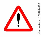 attention sign in triangle. red ...   Shutterstock .eps vector #1034894128