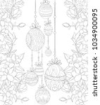 adult coloring book page the... | Shutterstock .eps vector #1034900095