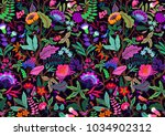 seamless floral pattern with... | Shutterstock .eps vector #1034902312