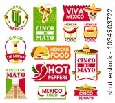 cinco de mayo icons for mexican ... | Shutterstock .eps vector #1034903722